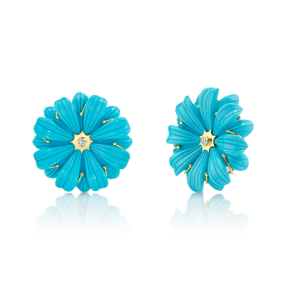 Large Wildflower Stud Earrings