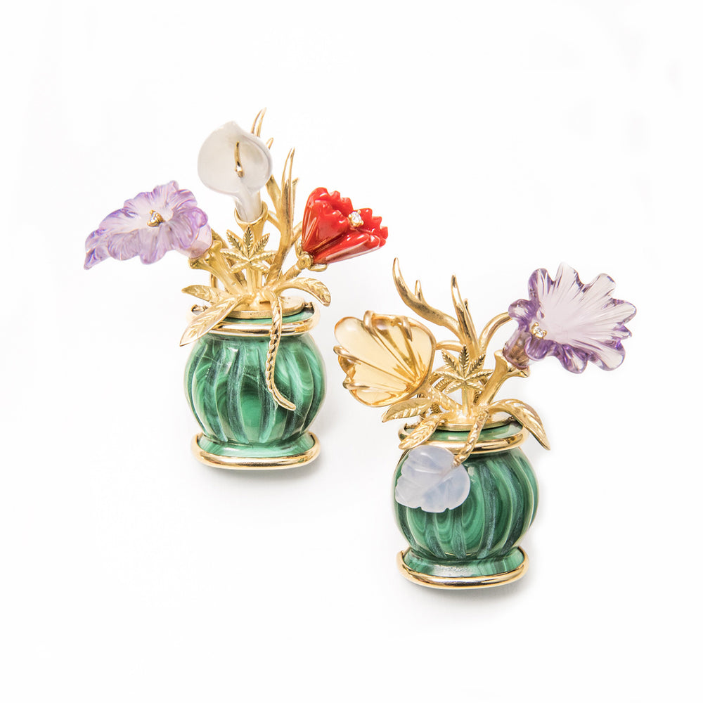 Flower Vase Earrings