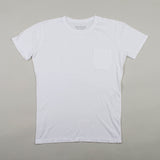 angle hover: white  Raleigh Denim Workshop cotton/modal pocket crew neck tee in white