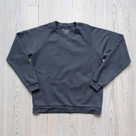 angle: granite | A Raleigh Denim Workshop sweatshirt in granite