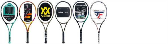 wilson tennis racquets on court