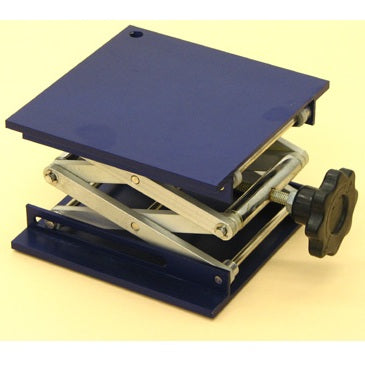 Laboratory Scissor Jack - 100 x 100mm Aluminium Square Plate | Cambridge Environmental