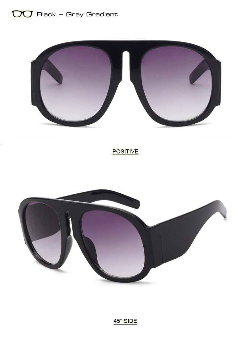 Gorje Oversized Aviator Goggle Sunglasses