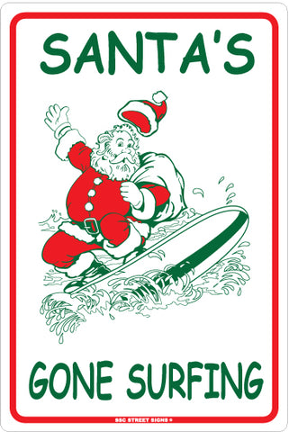 AA216 Santa's Gone Surfing - Seaweed Surf Co