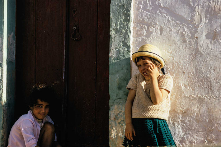 Two Girls Giggling, Portugal