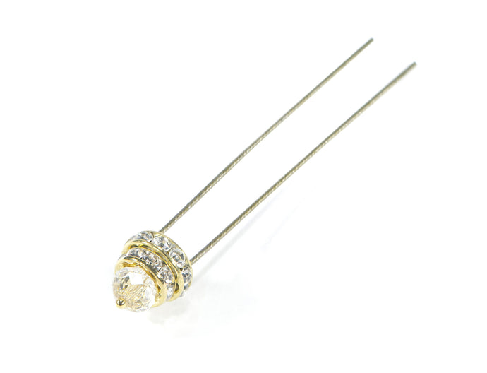 Finishing Touch Small Crystal Hairpin - Gold
