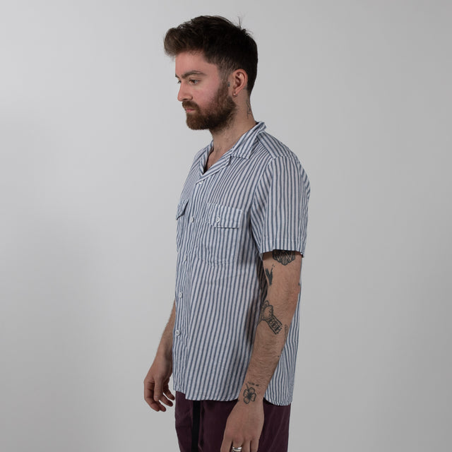 Detroit Shirt Ticking Stripe - Blue