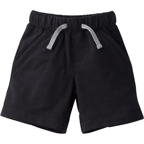 Favorite Team Matching Terry Cotton Shorts - Black (12M-5T)