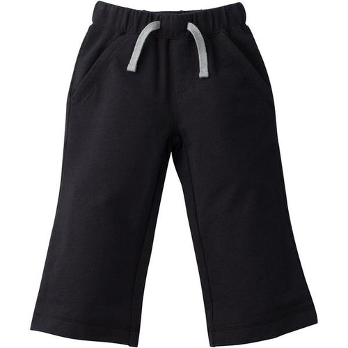 French Terry Infant and Toddler Boys Black Pants