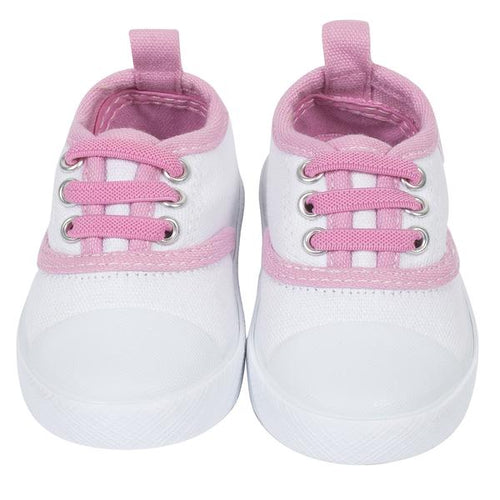 Sweet Pink Baby Girls' Lace Up Canvas Shoe