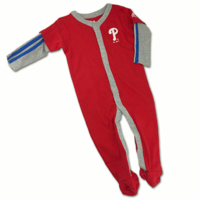 Phillies Infant Layered Sleeve Jersey Coverall