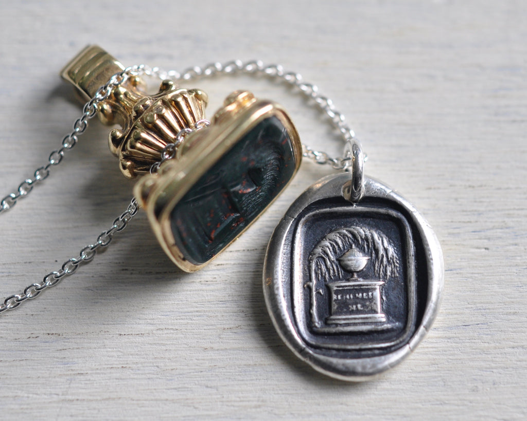 urn mourning necklace