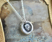 skull wax seal pendant