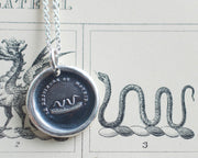 snake wax seal necklace
