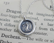 dragon wax seal necklace