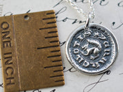 squirrel wax seal necklace - I CRAKE NOTIS - medieval wax seal jewelry