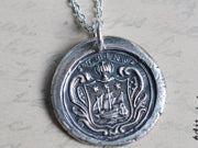tall ship wax seal necklace