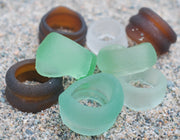 original sea glass bottlenecks