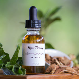 Kauai Farmacy Ashwagandha root tincture leaves