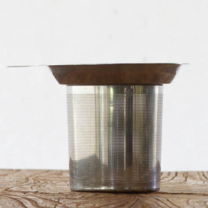 Stainless Steel Tea Strainer Infuser drop in cup detail