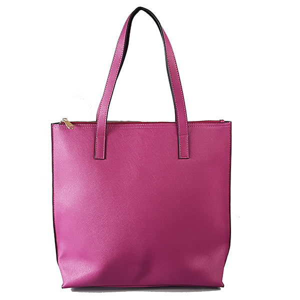 CHERMSIDE- Addison Road Magenta Structured Saffiano Shopper - Addison Road