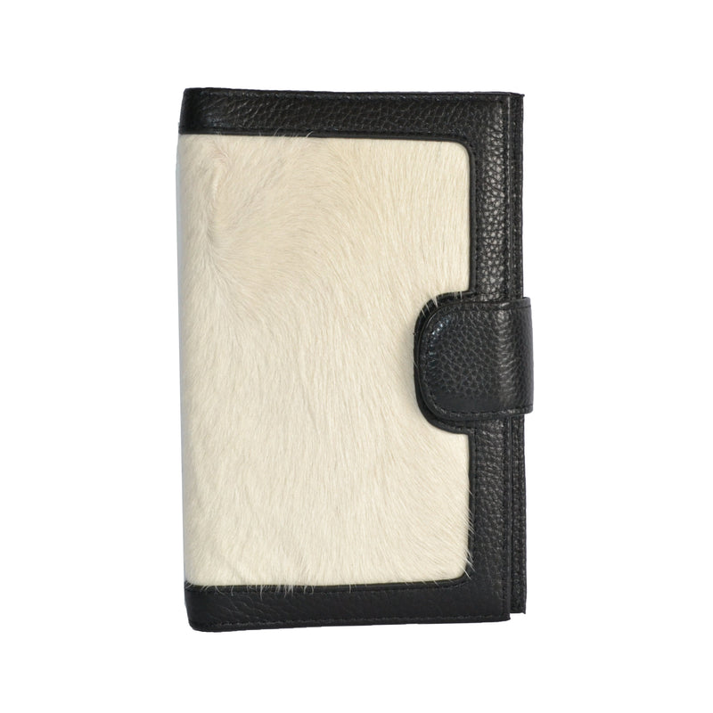 DARTBROOK- Ladies White  Cowhide Leather Cardholder Wallet Purse - Addison Road