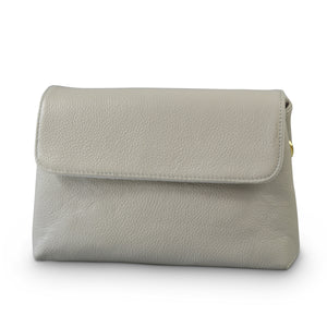Limited Edition - Kempsey Grey Leather Crossbody Fold Bag - Addison Road