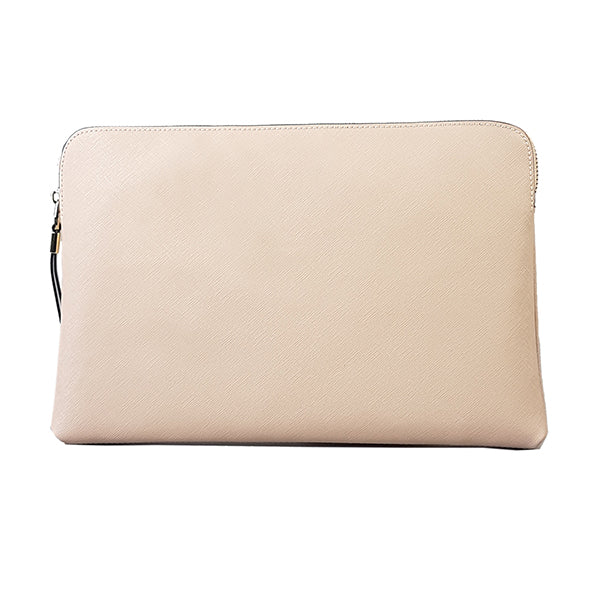 SORRENTO - Addison Road - Blush Structured Saffiano Clutch - Addison Road