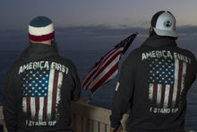 America first zip up Hoodie-Hoodie-Project War Path-Project War Path
