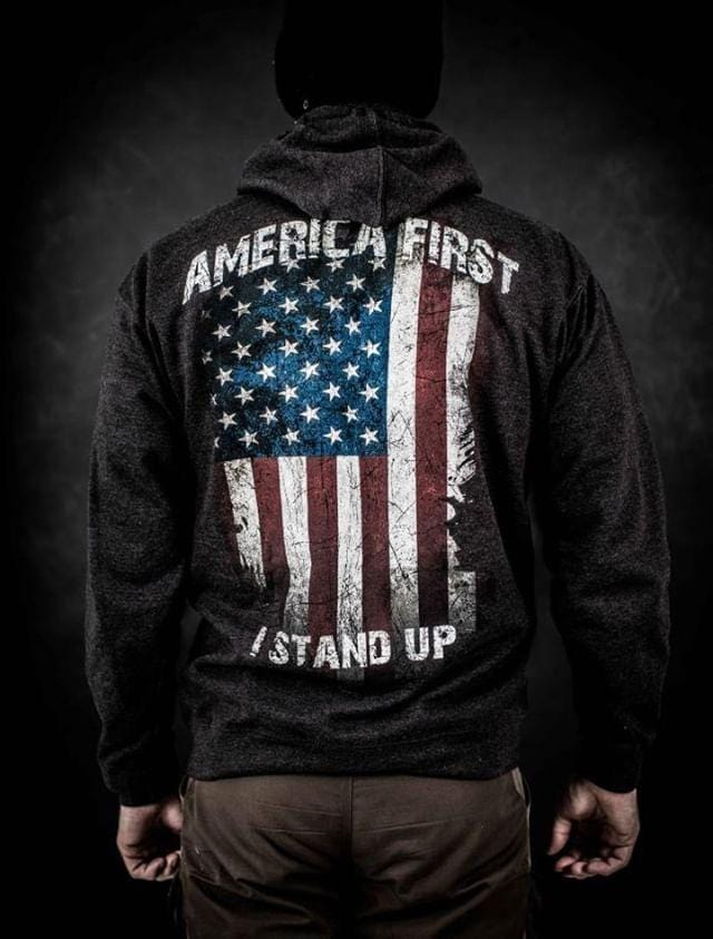 America first zip up Hoodie