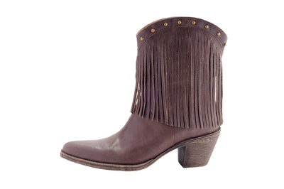 Kylie - Brown Leather Ladies Cowboy Boots