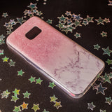 Pink Marble Samsung phone case
