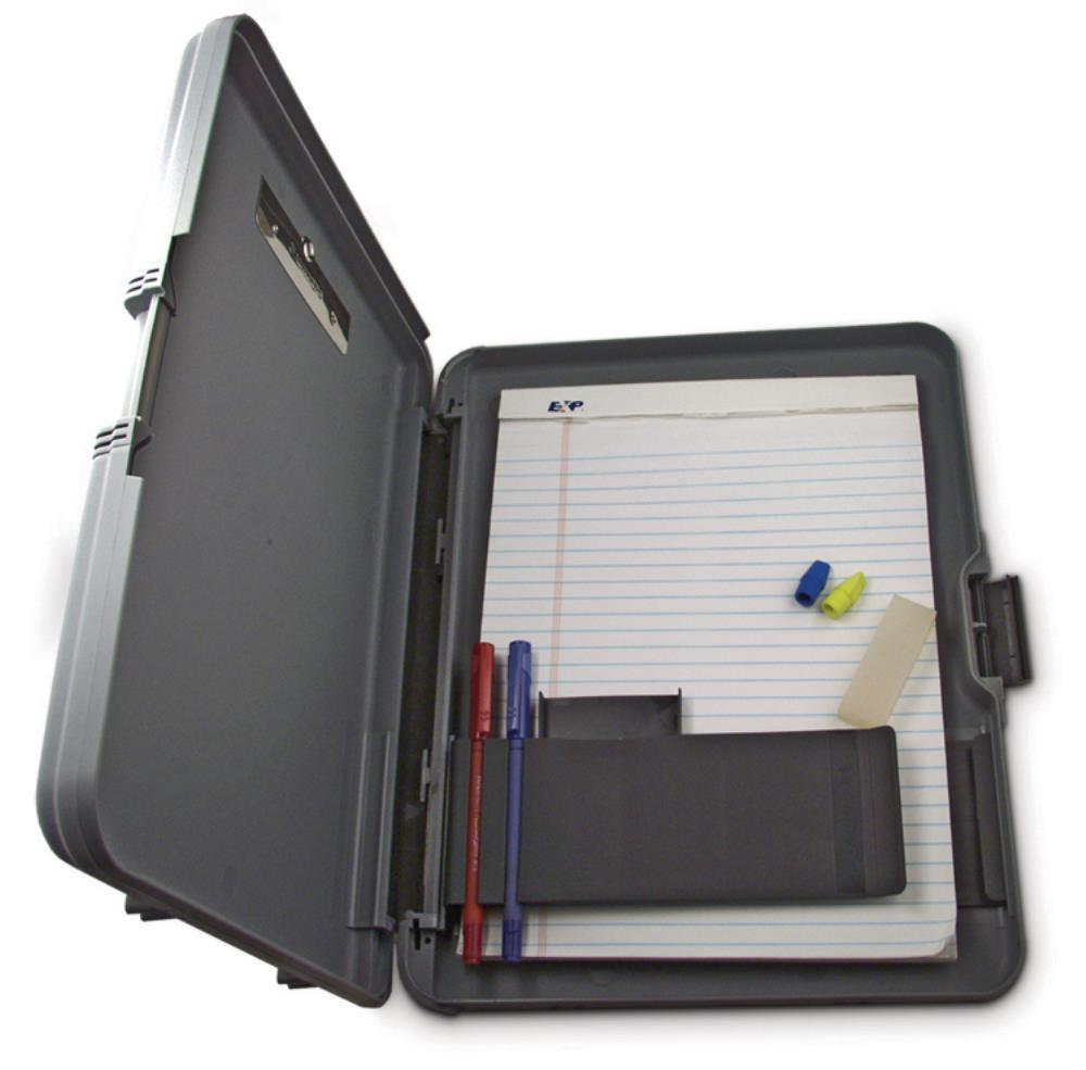 00470 Workmate; Gray/Charcoal Polypropylene Form holder Clipboard; Side Opening; A4 Saunders