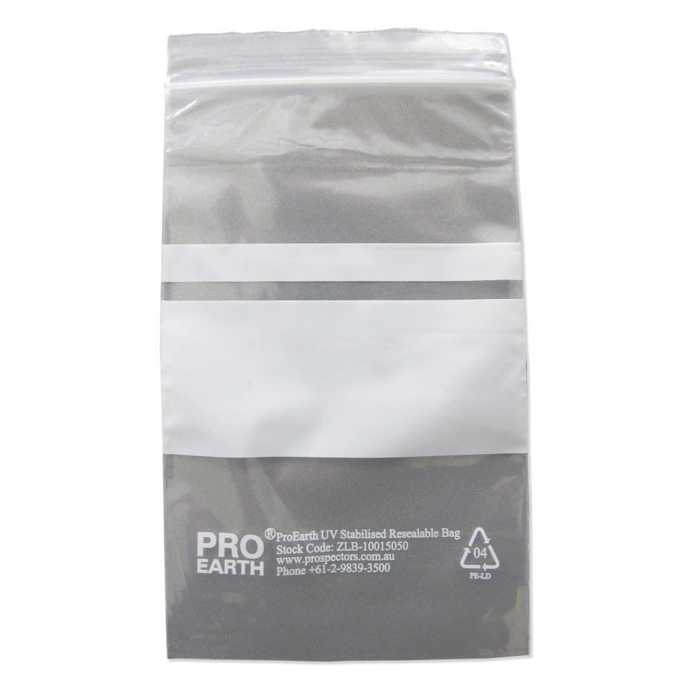 ProEarth UV Stabilised Zip Lock Plastic Bags with Patch 100 X 150mm X 50um 100 Bags