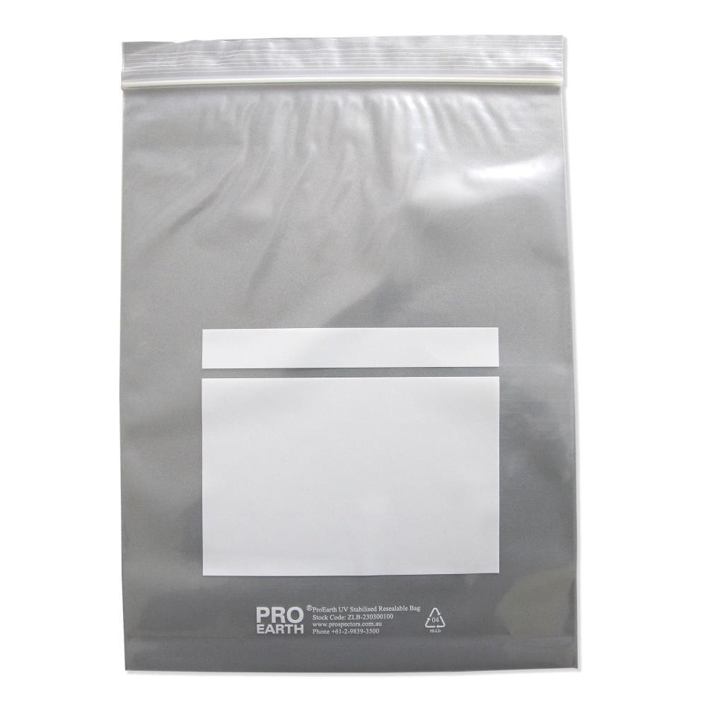 ProEarth UV Stabilised Zip Lock Plastic Bags with Patch 230 X 300mm X 100um 100 Bags