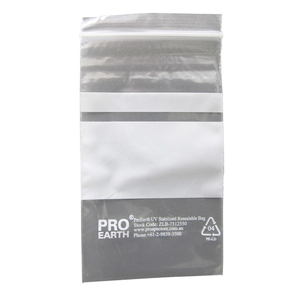 ProEarth UV Stabilised Zip Lock Plastic Bags with Patch 75 X 125mm X 50um 100 Bags