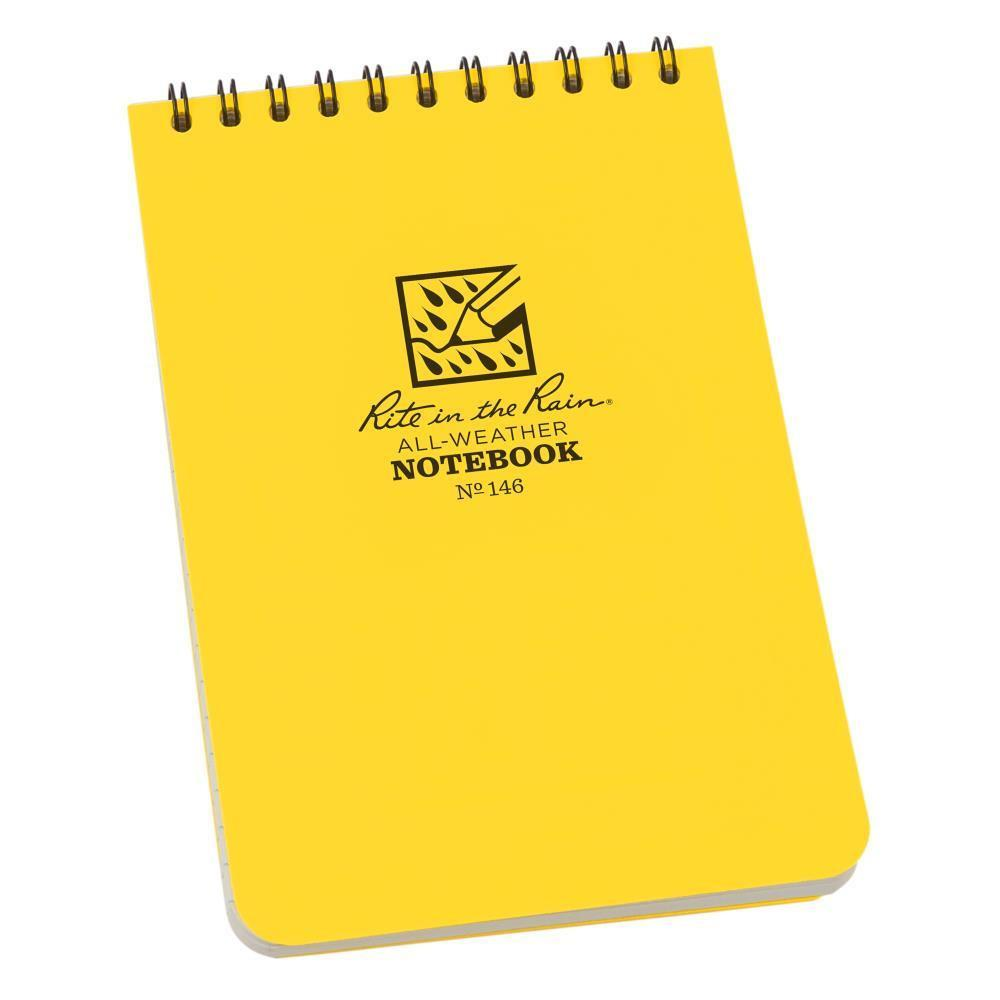 Rite in the Rain 146, All Weather Universal Polydura Notebook, 105mm x 152mm