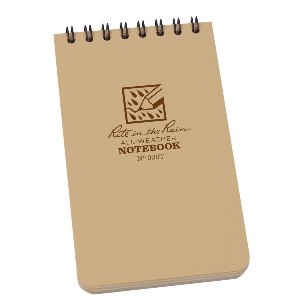 Rite in the Rain 935T, All Weather Tan Universal Pocket Notebook, 76mm x 127mm
