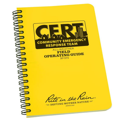 Rite in the Rain 573, All Weather CERT Field Operating Guide Polydura, 117mm x 177mm