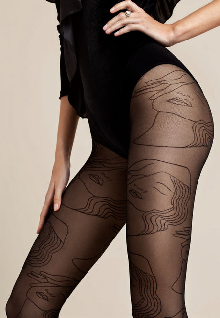 Zadie Zebra Patterned Opaque Tights by Fiore