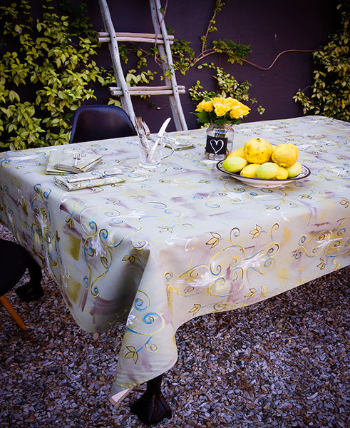 Antique Brocade Tablecloth