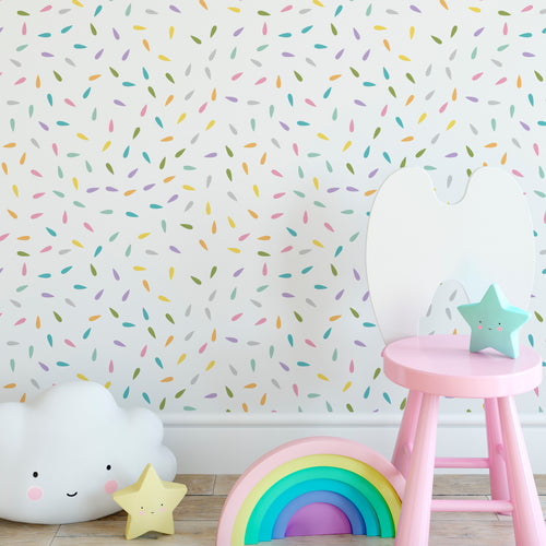 Rainbow Drops Self-Adhesive Wallpaper