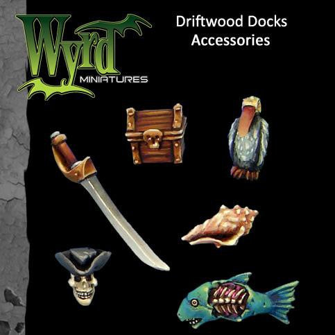 Malifaux : Driftwood Docks Base accessories