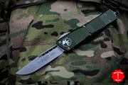 Microtech Combat Troodon OD Green Single Edge Stonewash Blade 143-10 OD