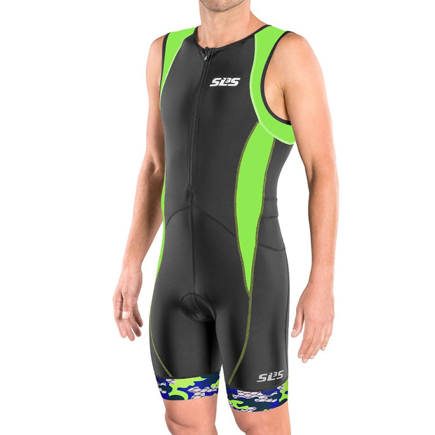Men's FX Triathlon Race Suit Green - SLS3