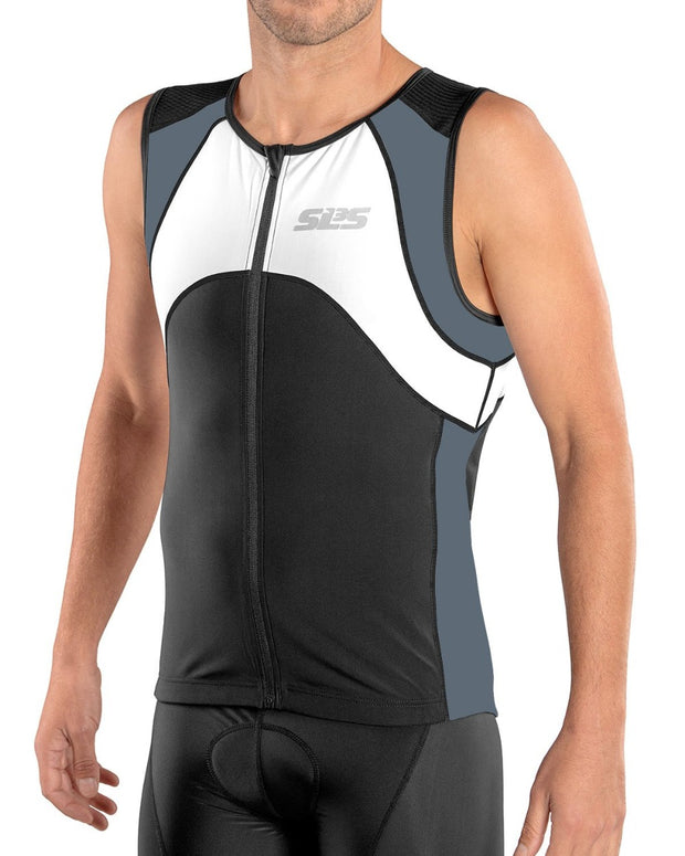 Men's FX Triathlon Race Top Thunder Gray - SLS3
