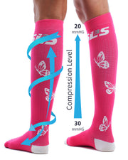 Women's Butterfly Compression Socks - SLS3