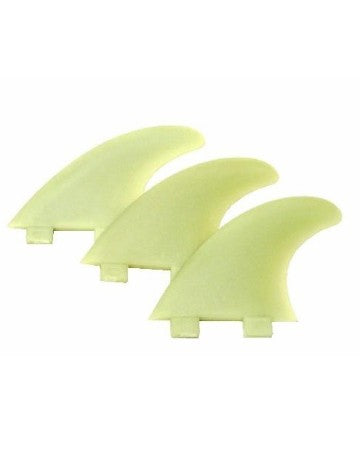 FCS M5 (Medium Size) Natural Glass Flex Tri Fin Set