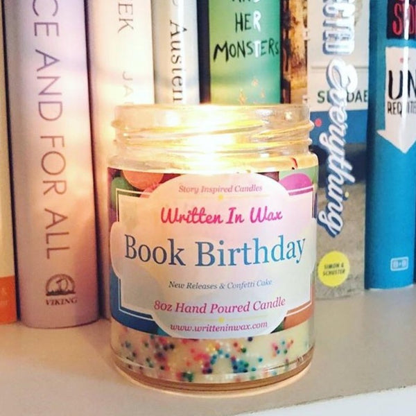 Book Birthday Candle