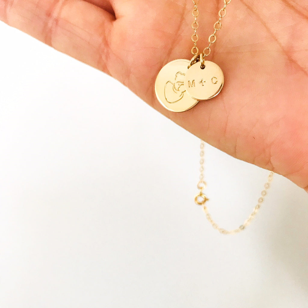 Mumma Bear Necklace - Big & Small Pendant Necklace